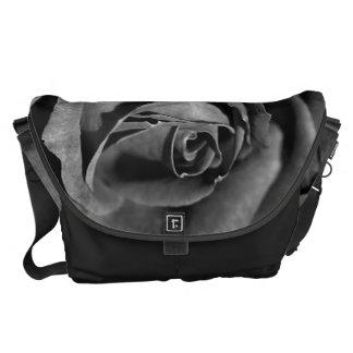 Rose Black And White Large Messenger Bag