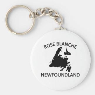 Rose Blanche Keychain