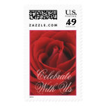 Rose Bloom (1) Celebrate, With Us Postage Stamp