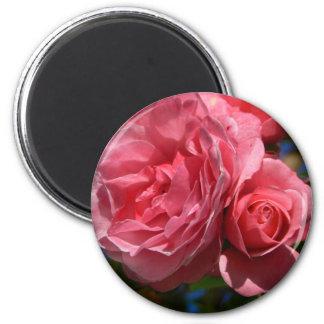 Rose Bloom 2 Inch Round Magnet