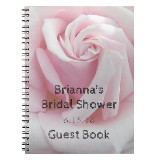 Rose Bloom Bridal Shower Guest Book