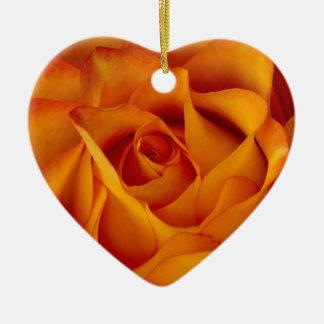 Rose Bloom Heart Ornament
