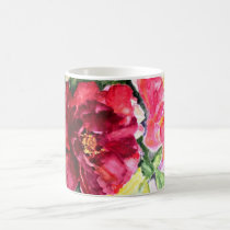 Rose Bloom Watercolor Classic Coffee Mug