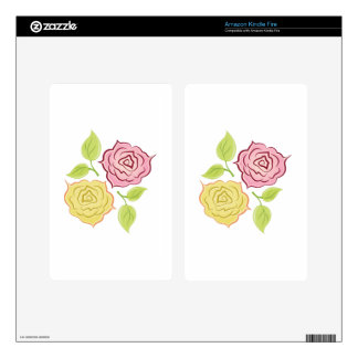 Rose Blooms Decals For Kindle Fire