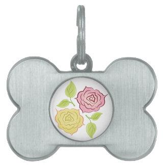 Rose Blooms Pet ID Tag