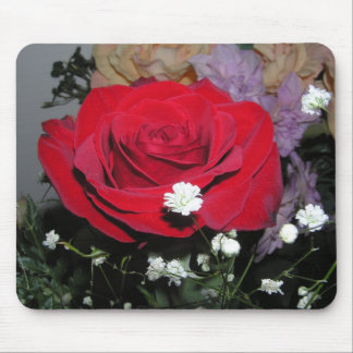 Rose Blossom and Silk Flowers Mousepad Mother Mom