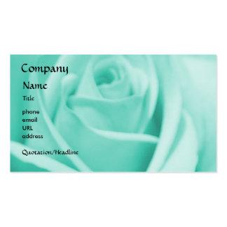 Rose - Blue - business card template