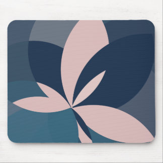 Rose Blue Butterfly Bloom Mouse Pad