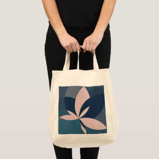 Rose Blue Butterfly Bloom Tote Bag