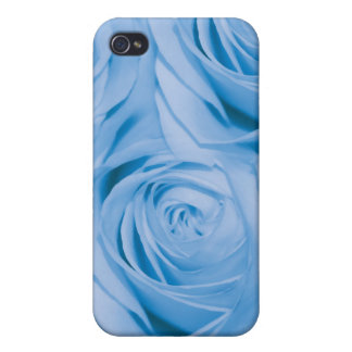 Rose blue flower collage case for iPhone 4