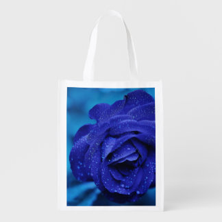 Rose Blue Grocery Bags