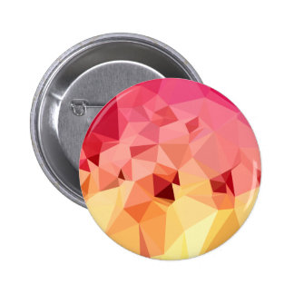 Rose Bonbon Pink Abstract Low Polygon Background Button