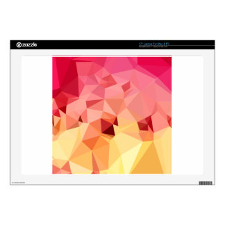 Rose Bonbon Pink Abstract Low Polygon Background Decal For Laptop
