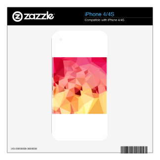 Rose Bonbon Pink Abstract Low Polygon Background Decal For The iPhone 4