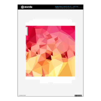 Rose Bonbon Pink Abstract Low Polygon Background iPad 3 Skins