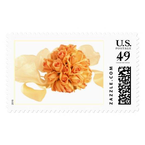 Rose Boquet Wedding Stamp