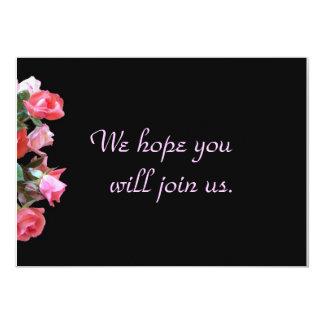 "Rose Bouqet Invitation 5"" X 7"" Invitation Card"