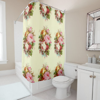 Rose Bouquests Vintage Floral Shower Curtain