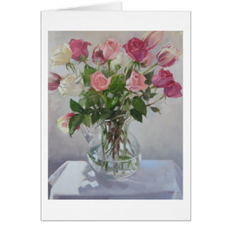 """""""Rose Bouquet"""" Blank Greeting Card"""