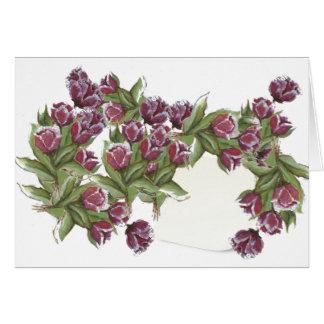 Rose bouquet card