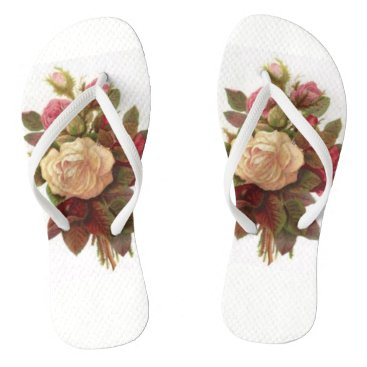 Beach Themed Rose Bouquet Flip Flops