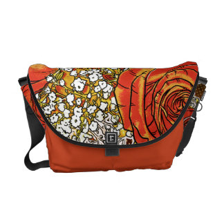 Rose Bouquet Floral Messenger Bag