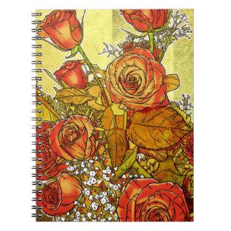 Rose Bouquet Floral Spiral Notebook