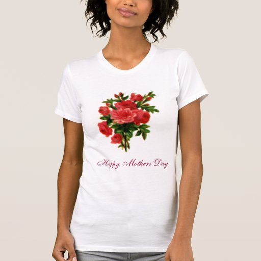 Rose Bouquet, Happy Mothers Day Tee Shirts