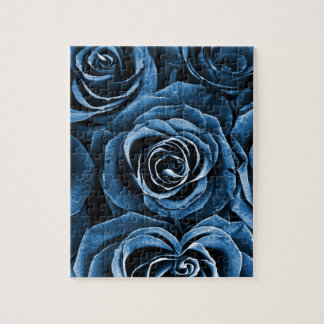 Rose Bouquet in Blue Jigsaw Puzzle