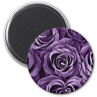 Rose Bouquet in Purple 2 Inch Round Magnet