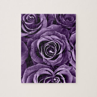 Rose Bouquet in Purple Jigsaw Puzzle