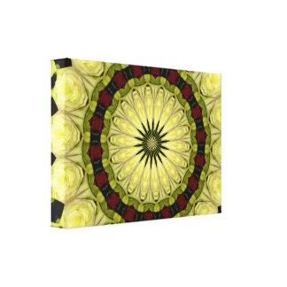 Rose Bouquet Kaleidoscope #30 Wrapped Canvas Canvas Prints