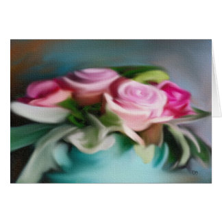 Rose Bouquet On Canvas Cards