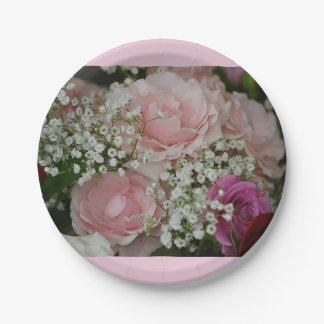 Rose Bouquet Paper Plate