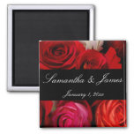 Rose Bouquet Personal Wedding 2 Inch Square Magnet