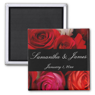 Rose Bouquet Personal Wedding Refrigerator Magnet