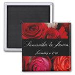 Rose Bouquet Personal Wedding Refrigerator Magnet
