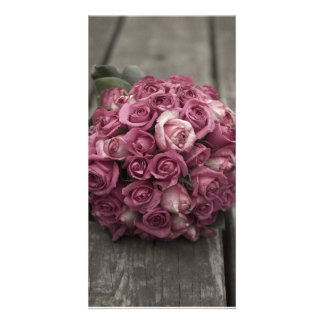 Rose Bouquet Photo Greeting Card