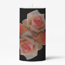 Rose Bouquet Pillar Candle