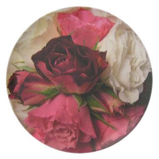 rose bouquet plate