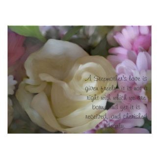 Rose Bouquet Print with Stepmother Verse