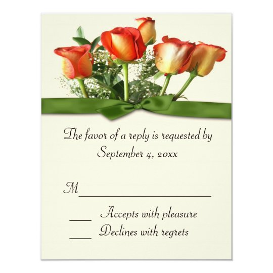 Rose Bouquet Response Card
