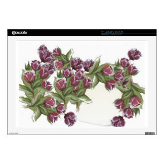 "ROSE BOUQUET DECAL FOR 17"" LAPTOP"