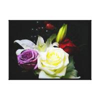 Rose Bouquet Still Life Canvas Print
