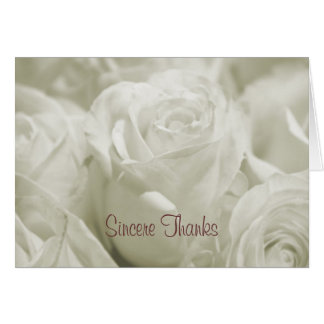 Rose Bouquet Thank You Card
