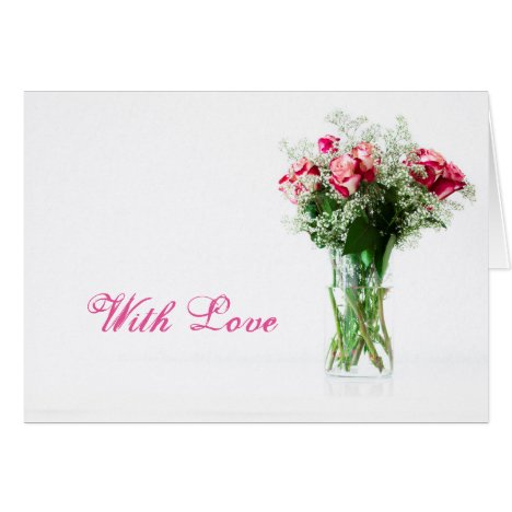 Rose Bouquet Valentine's Day Love Card