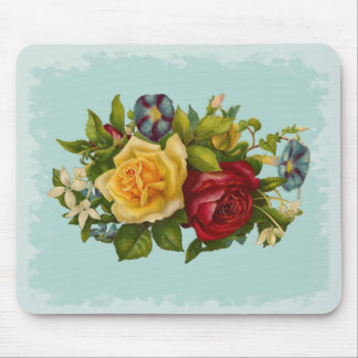 Rose Bouquet Victorian Vintage Mouse Pad
