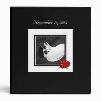 Rose Bouquet Wedding Picture 3 Ring Binder