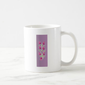 Rose bouquet with purple background coffee mugs