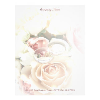 rose bouquets rings  wedding planner business letterhead
